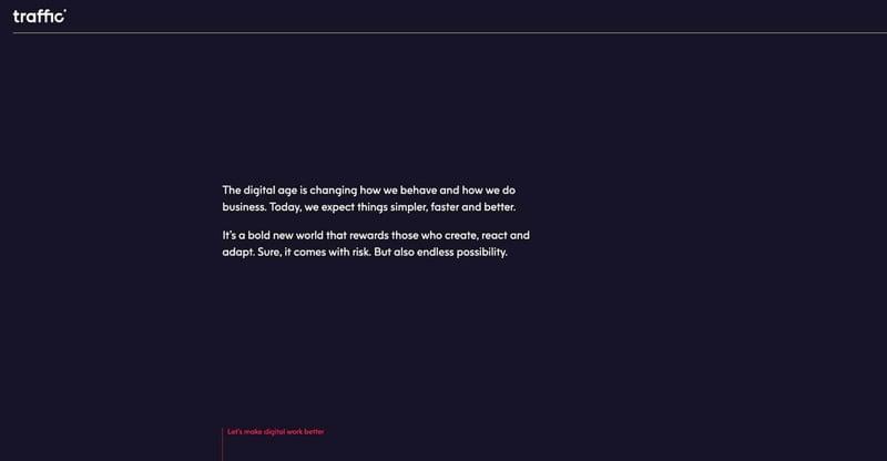 Traffic Marketing Agency Website