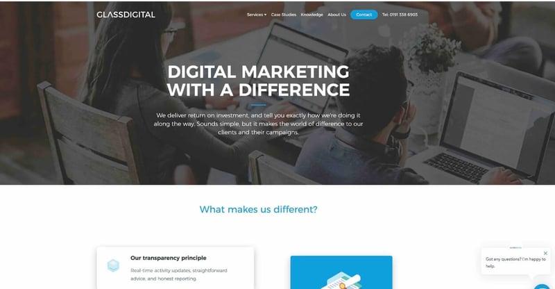 Glass Digital Marketing Agency Website