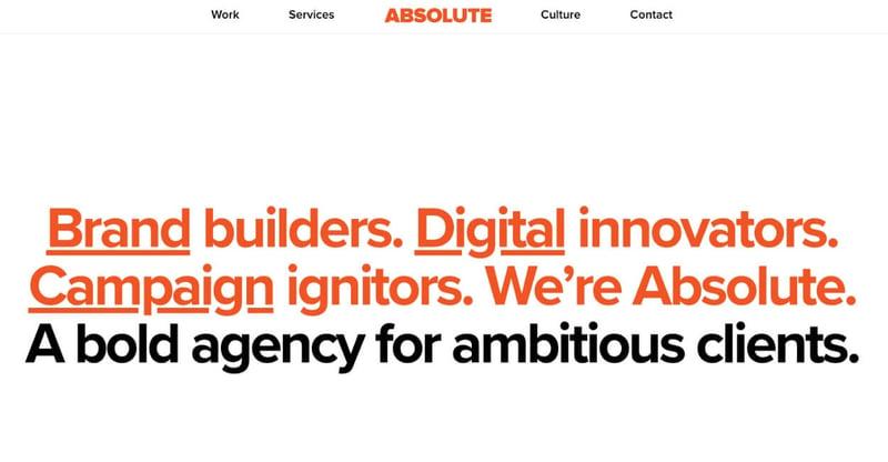 Absolute Marketing Agency Website