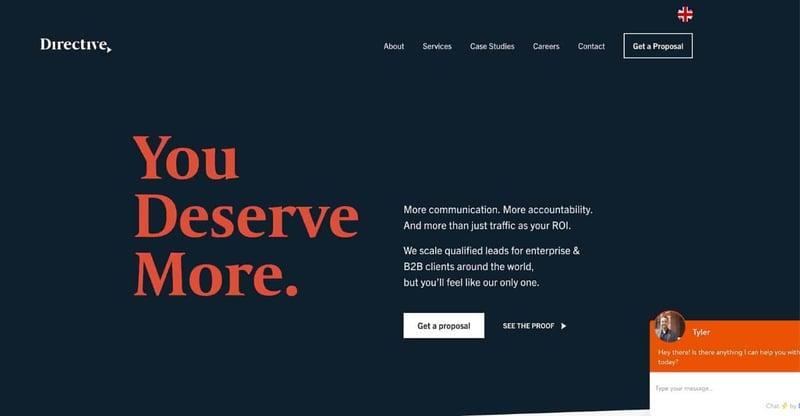Directive Marketing Agency Website