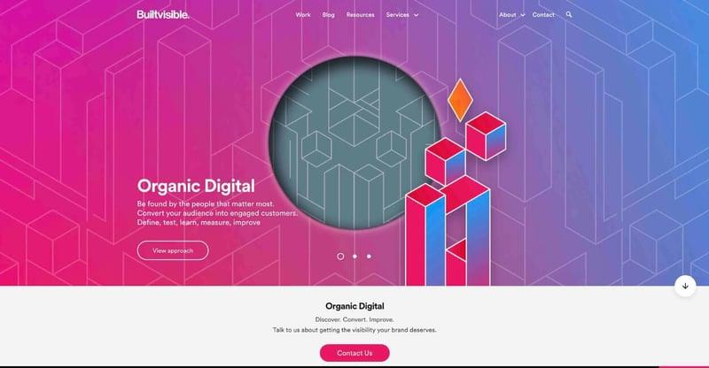 Built Visible Marketing Agency Website
