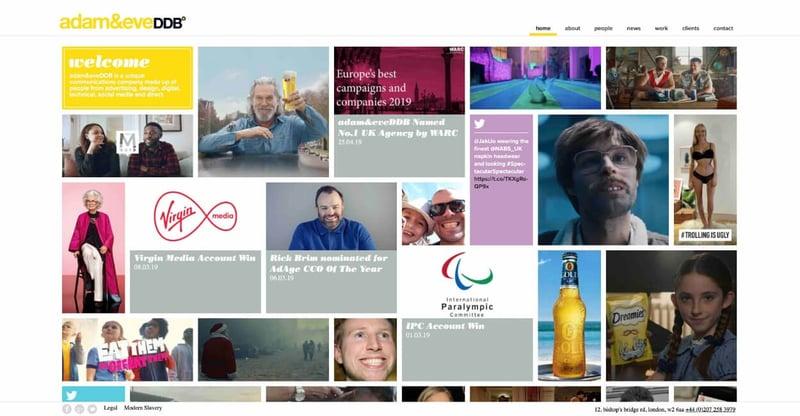 Adam & Eve DDB Marketing Agency Website