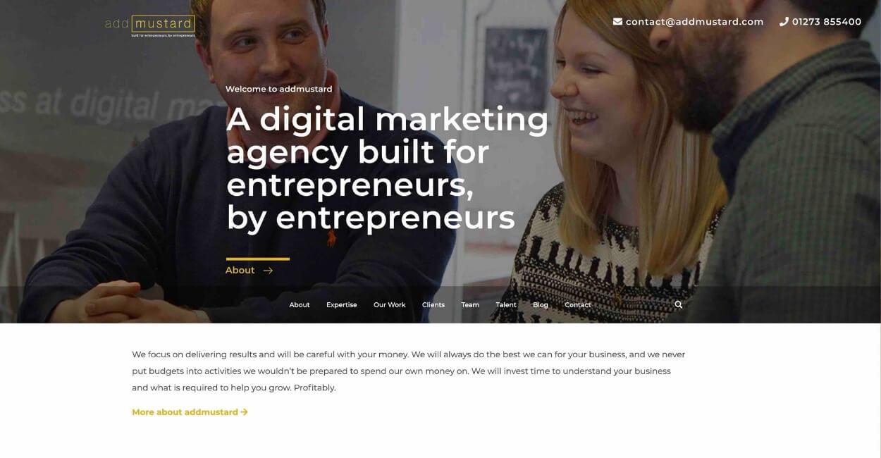 Add Mustard Marketing Agency Website