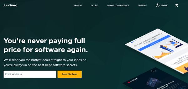 Appsumo homepage