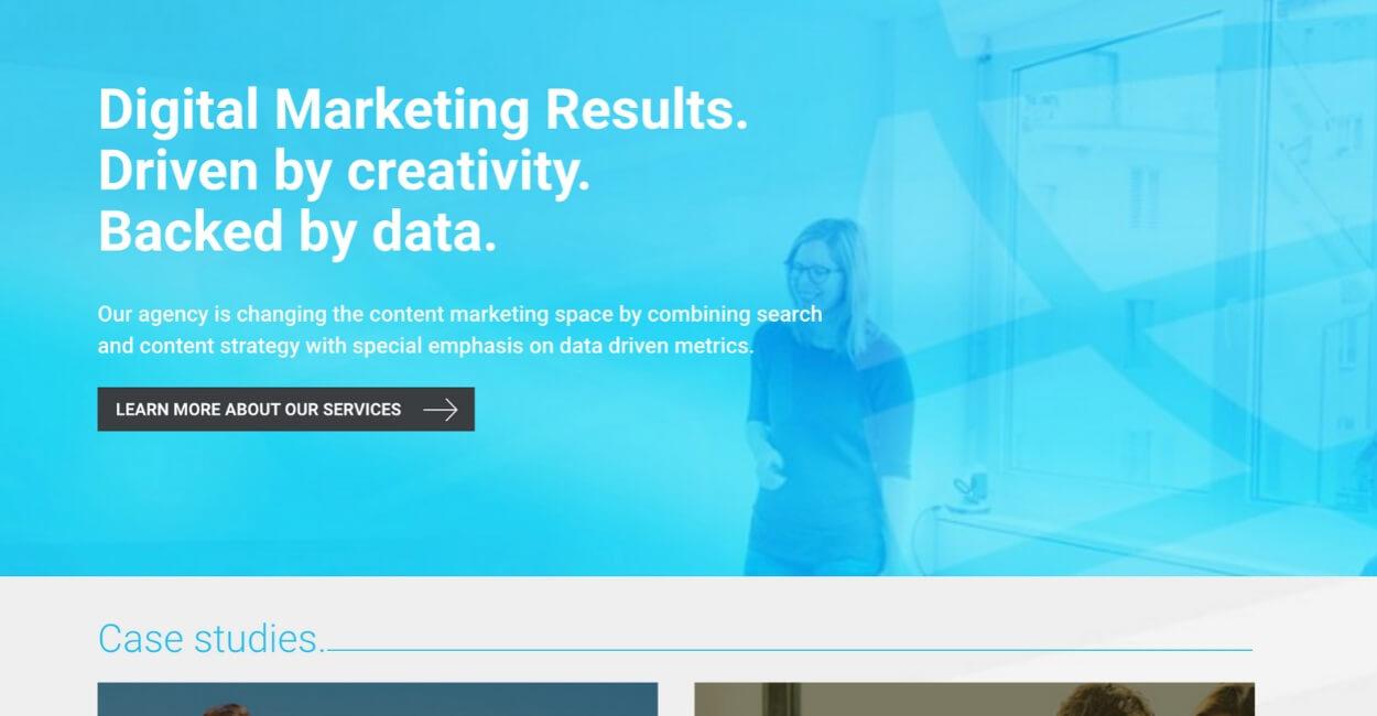 Blueglass Marketing Agency Website