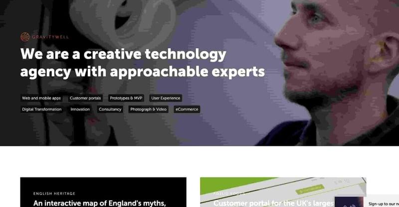 Gravity Well Marketing Agency Website