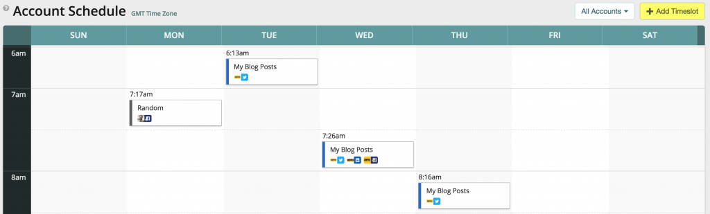 Our approach to managing social media centres around a well planned, automated schedule of posts