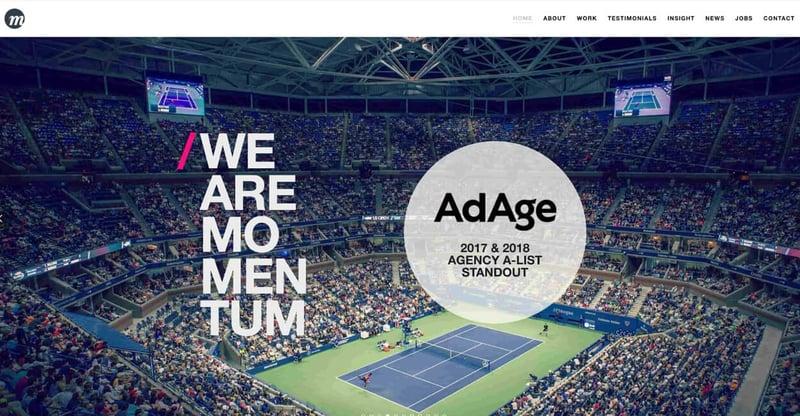 Momentum Marketing Agency Website