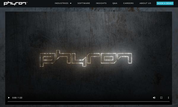 Phyron homepage video