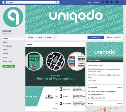 Uniqodo facebook page