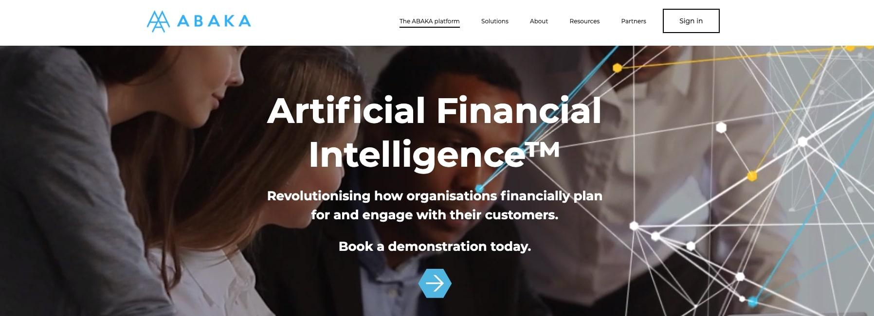 Abaka FinTech Website Homepage