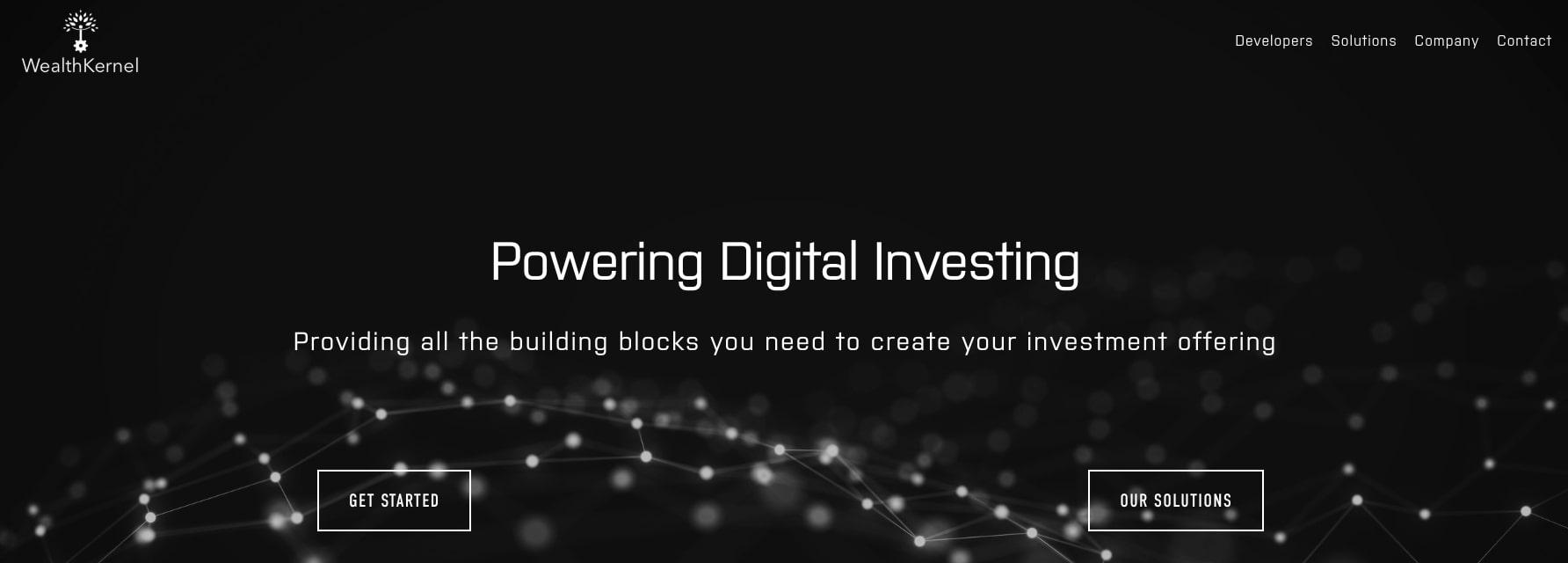 WealthKernel FinTech Website Homepage
